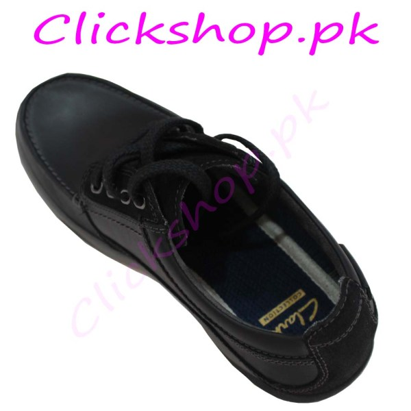 Black Shoes for young boys - Brand Clark