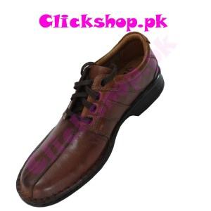 Dark Brown Shoes for young boys - Brand Clark