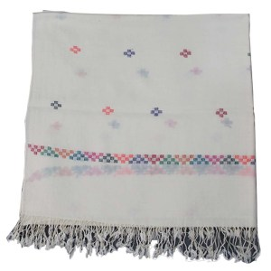 pashmina swati shaal hand made - off white color 35inch - 2 meter