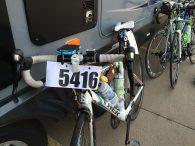 Amy's bike ready to go