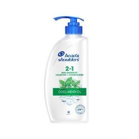Head & shoulders Shampoo + Conditioner - 2-in-1, Cool Menthol, 650 ml