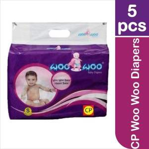 CP Woo Woo Diapers 5 Pieces (Small) - ClickUrKart