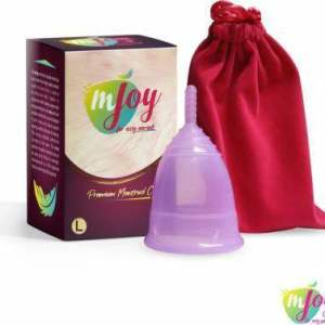 mJOY Premium Hygienic Large Period Cup - Reusable, Washable, After Delivery Or Above 25 Years, 1 pc - ClickUrKart