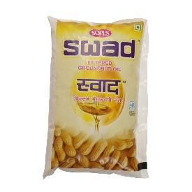 Swad Groundnut Oil 1L Pouch