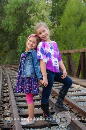 Connie Hanks Photography // ClickyChickCreates.com // Sister photo session, Iron Mountain Trail, Old Poway Park, sisters, rustic, park, field