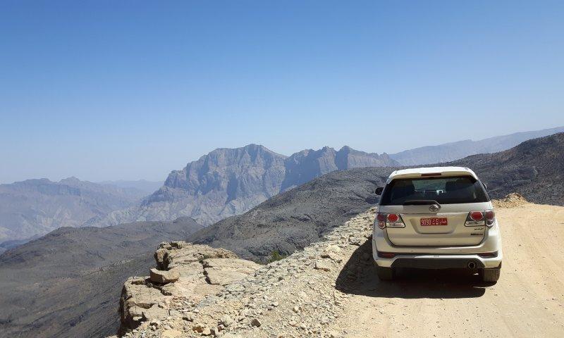 Il nostro attraversamento del Wadi Bani Awf in Oman
