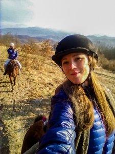 Io e Enry a cavallo a Le Carovane