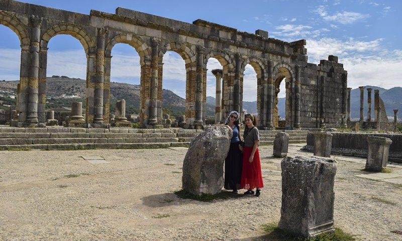 Marocco Io e Rossana a Volubilis