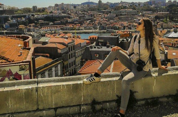 Porto Il panorama dal Miradouro da Vitoria