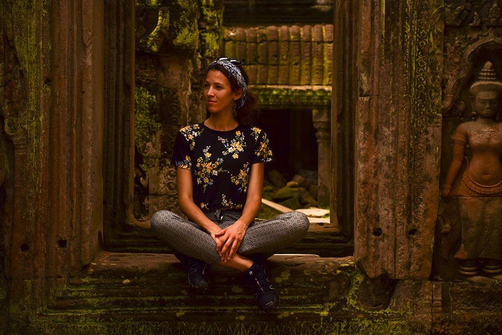 Un mio ritratto all'interno del tempio Bentay Srei