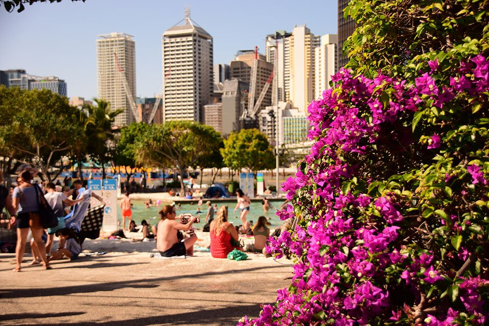 Beach Street in South Bank Brisbane