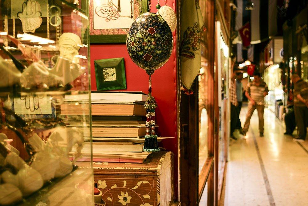 Dettaglio dell'interno del Gran Bazar