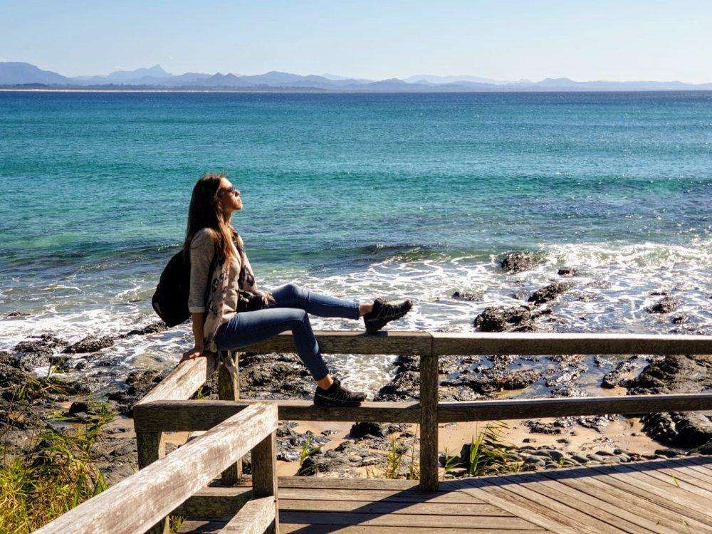 Uno dei punti panoramici della passeggiata di Byron Bay