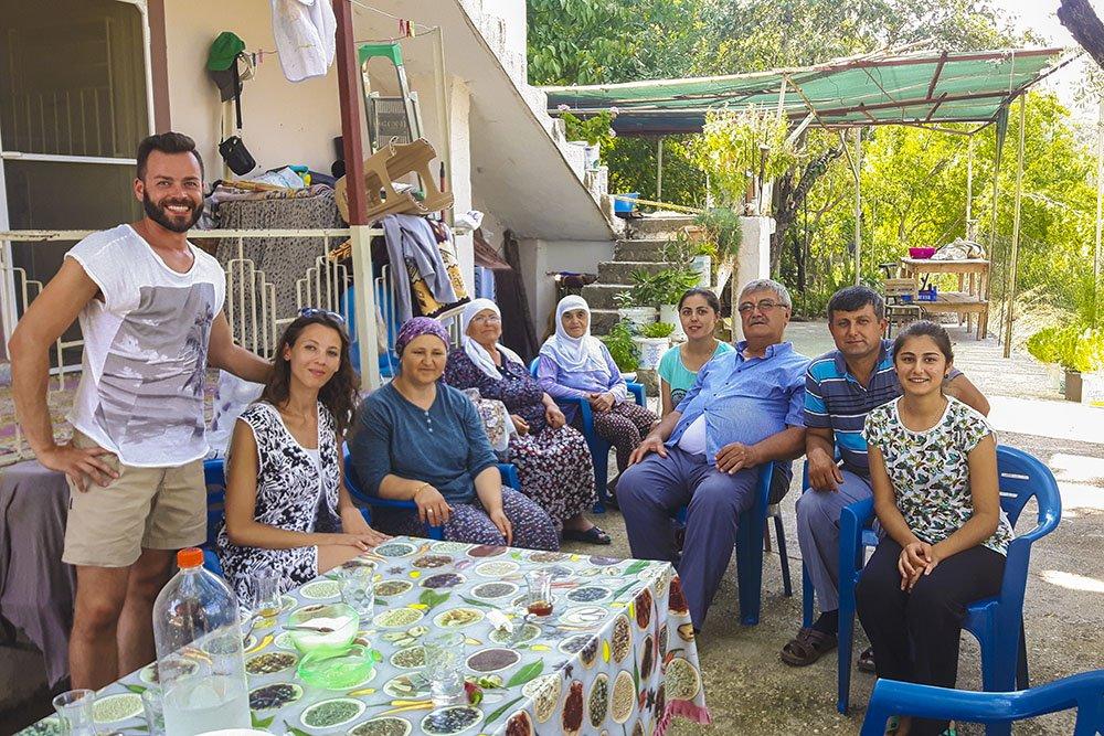 Pranzo con famiglia turca