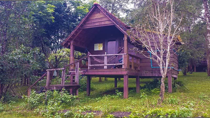 Dormire in una capanna nella giungla in Cambogia