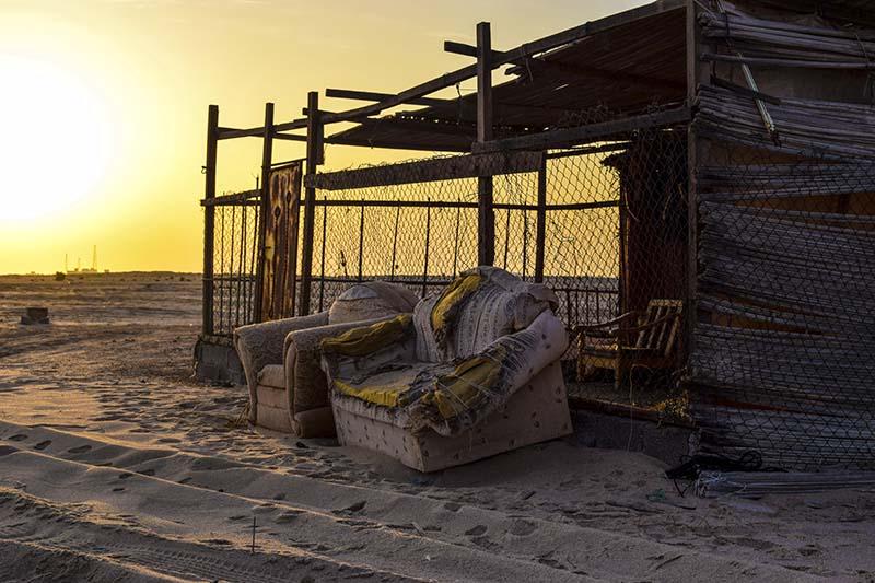 Dormire in posti strani: la capanna di un pescatore in Oman