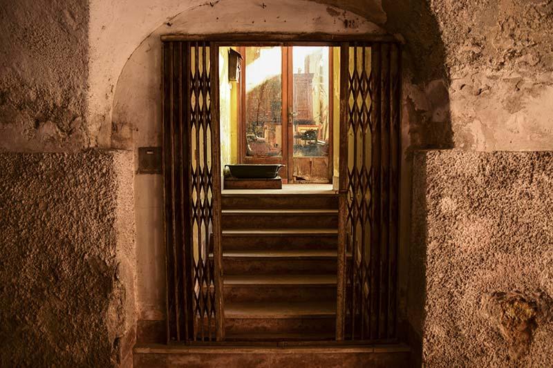Un dettaglio dell'ingresso di un'abitazione Borgo Valsugana