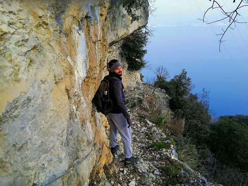 Tornando a Campione sul sentiero ad Anello