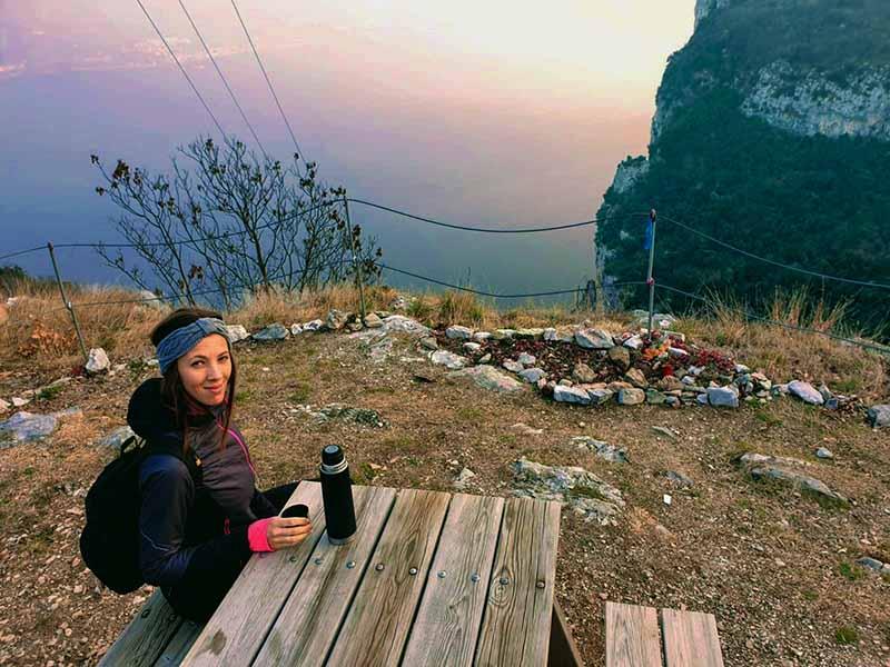 Punto panoramico lungo il sentiero ad anello di Campione del Garda