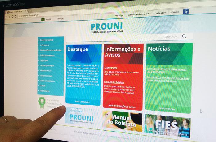 Resultado da primeira chamada do ProUni já está disponível na internet