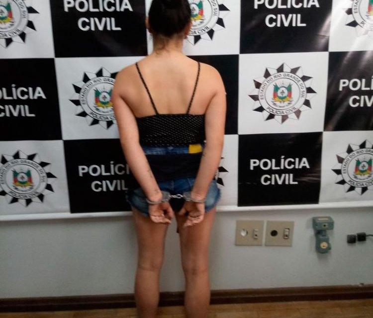 Polícia prendeu suspeita de tentativa de homicídio em Camaquã