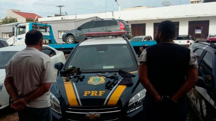 Criminosos presos pela PRF assaltaram veículo de cigarro em Arroio do Ratos