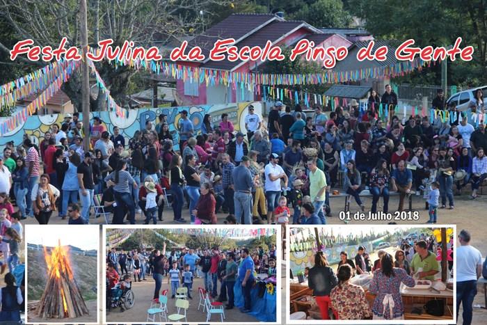 Festa Julina da Escola Pingo de Gente em Cerro Grande do Sul