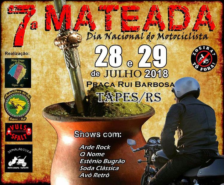 7ª Mateada irá reunir fãs do motociclismo e do rock