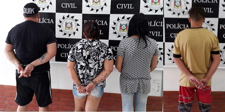 Polícia da Barra do Ribeiro prende quatro pessoas por tráfico