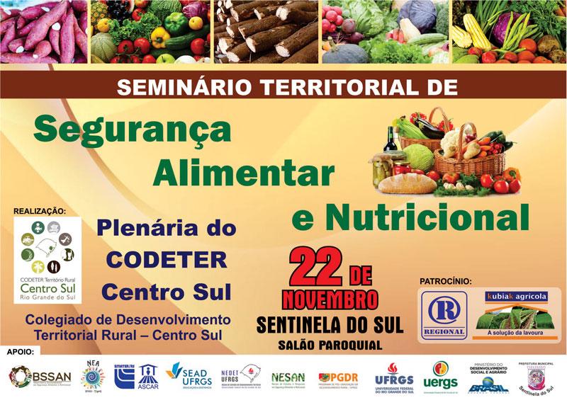 Sentinela do Sul vai sediar Seminário Territorial de Segurança Alimentar e Nutricional