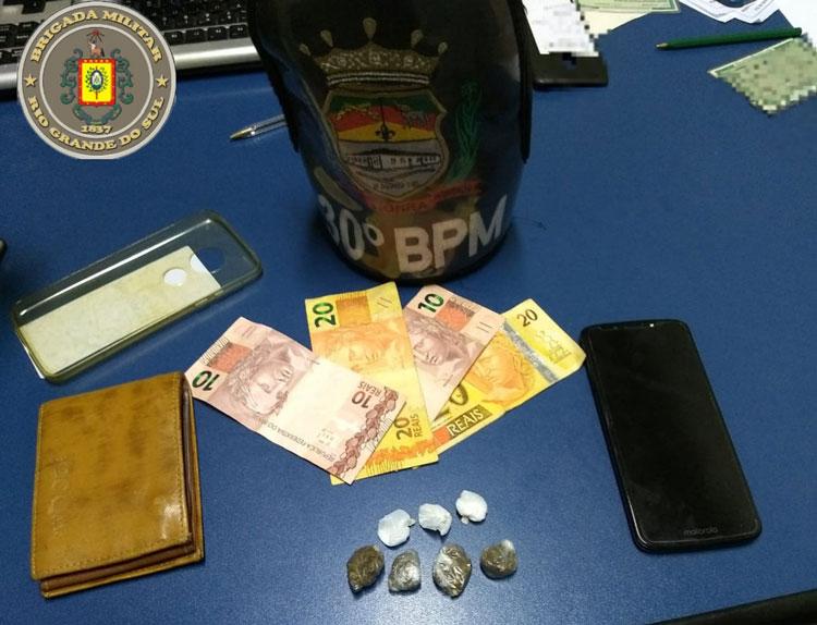 Brigada Militar apreende menor por tráfico de drogas em Chuvisca