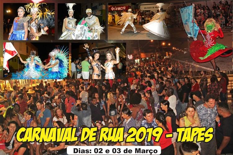 Carnaval de Rua 2019 em Tapes – Dias 02 e 03 de março