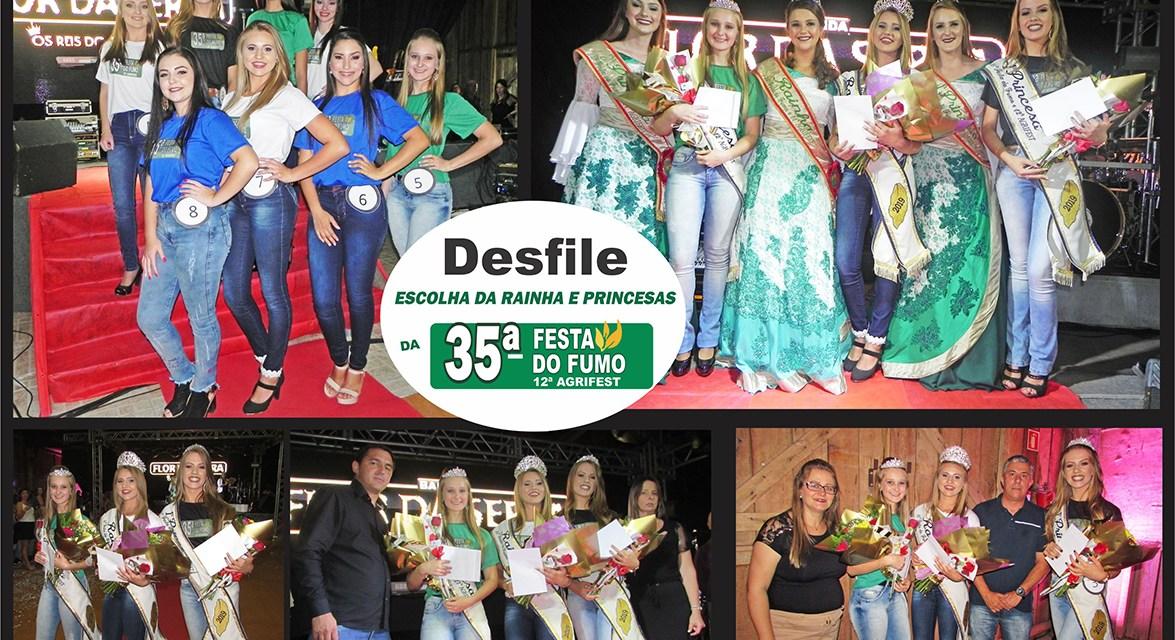 Fotos do Desfile da Escolha das Soberanas da 35ª Festa do Fumo e 12ª Agrifest