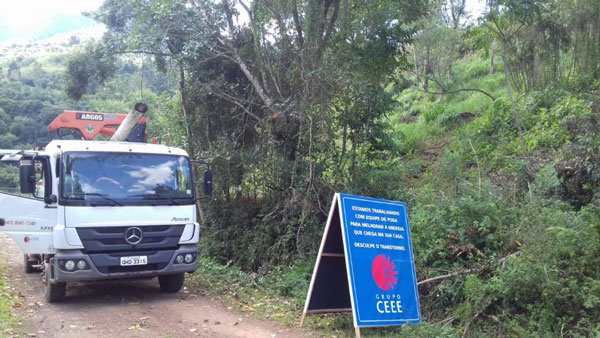 CEEE-D comunica desligamento de energia para a área rural de Cerro Grande do Sul