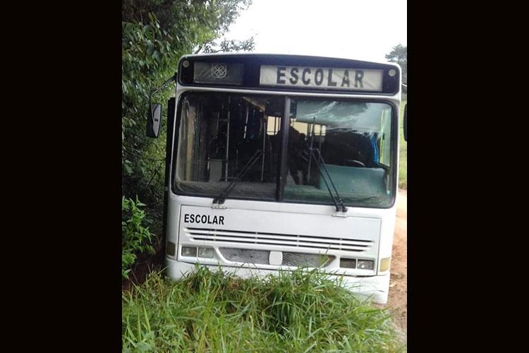 Susto com ônibus escolar em Sentinela do Sul