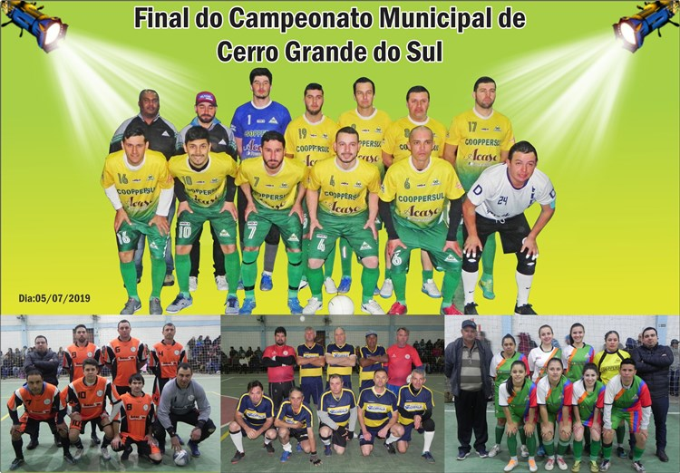 Final do Campeonato Municipal de Cerro Grande do Sul