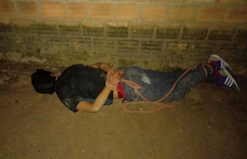 Moradores amarram homem e impediram agressão à ex-mulher