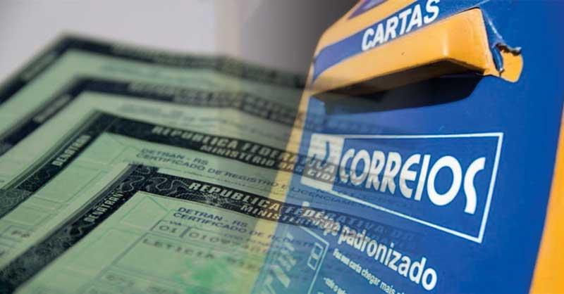 Encurtou o prazo pra retirada de documentos de veículos nos Correios