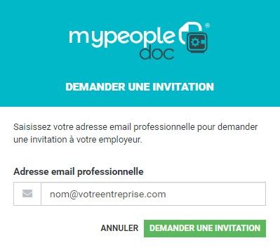 Mypeopledoc inscription demande invitation