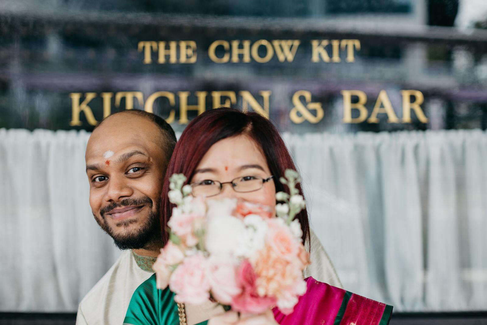 Couple photo pre-wedding An intimate cross-cultural indian chinese wedding at The Chow Kit Hotel in Kuala Lumpur Malaysia Wedding and Portrait Photographer Cliff Choong Photography