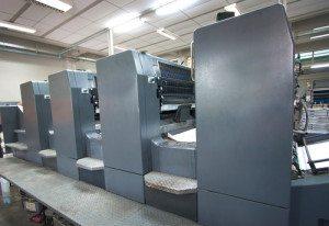 Newsletter printing on press