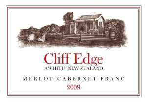 label of the Cliff Edge Bordeaux-style red vintage 2009