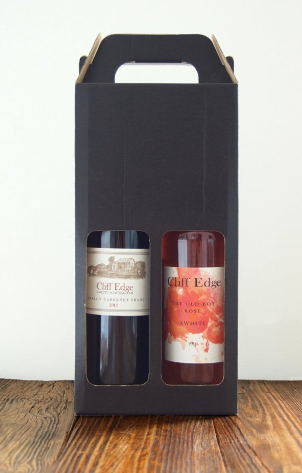 Cliff Edge red & rosé box, two bottles