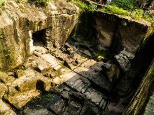 A view inside the Jogeshwari caves, Andheri East