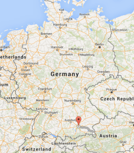 Munich is 1.5 hours NW of me