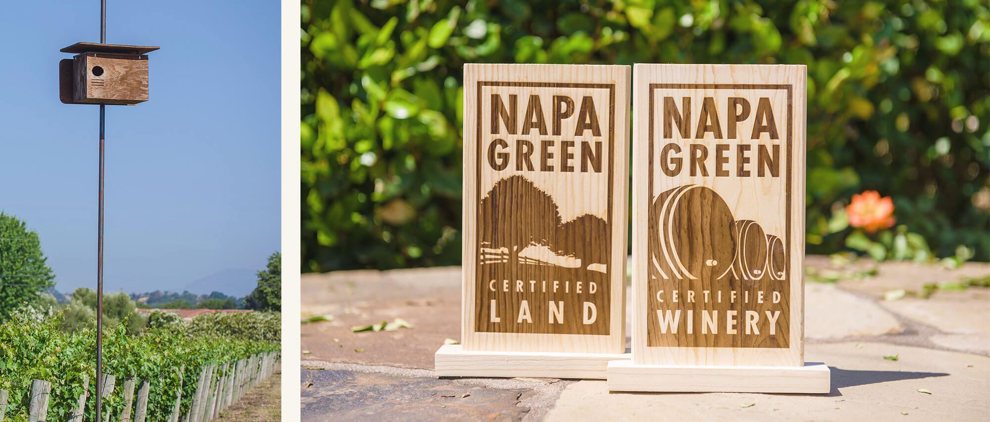 Napa Green Award plaques