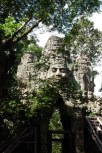 The West Gate at Angkor Thom was deserted, unlike the South Gate which we had ridden through earlier.