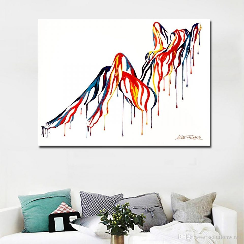 abstract art sexy girl canvas wall painting