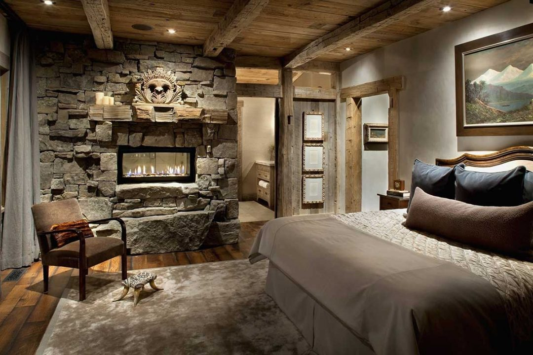 decorate a mountain style bedrooms