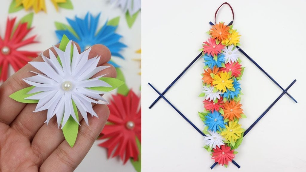 easy paper flowers wall hanging crafts